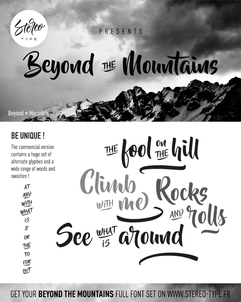 Beyond The Mountains Font | dafont com