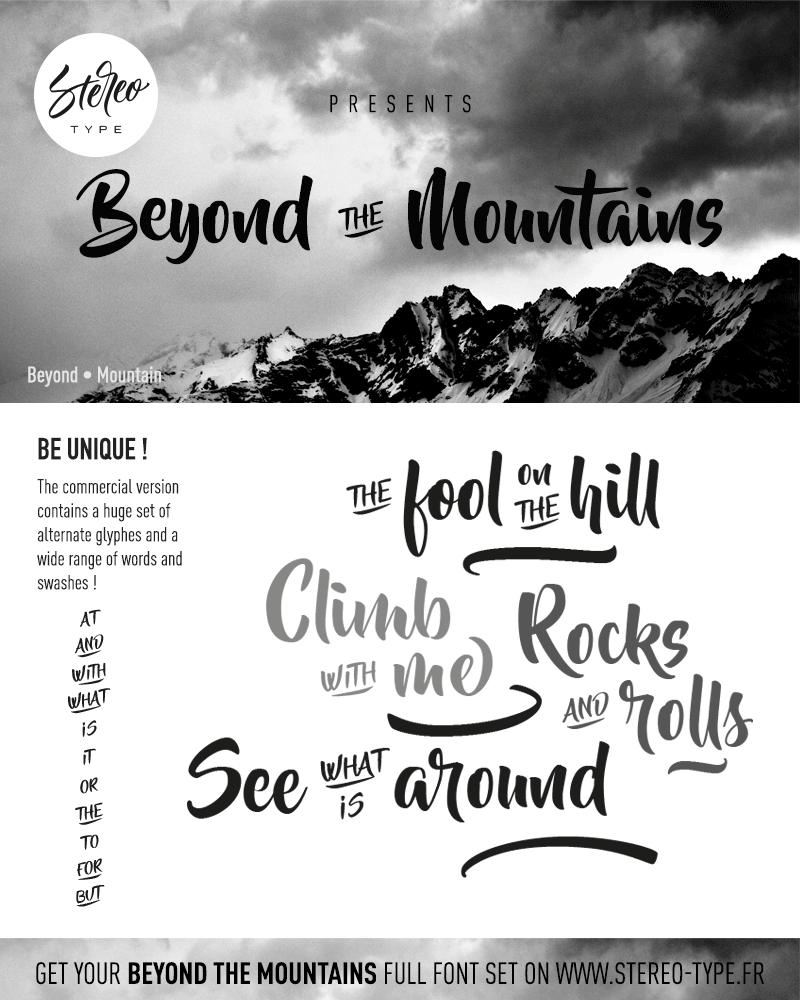 Beyond the mountains dafont