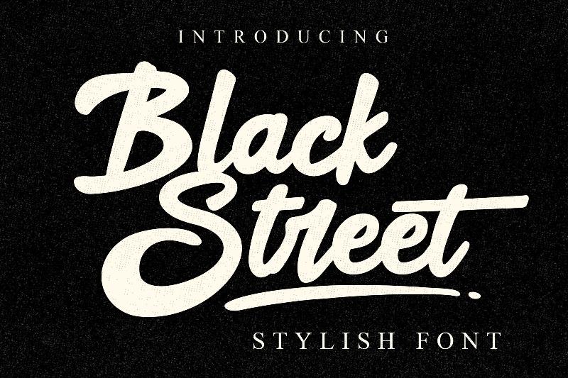 Black Street Font   dafont com