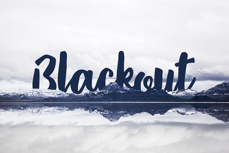 Blackout Font | dafont com