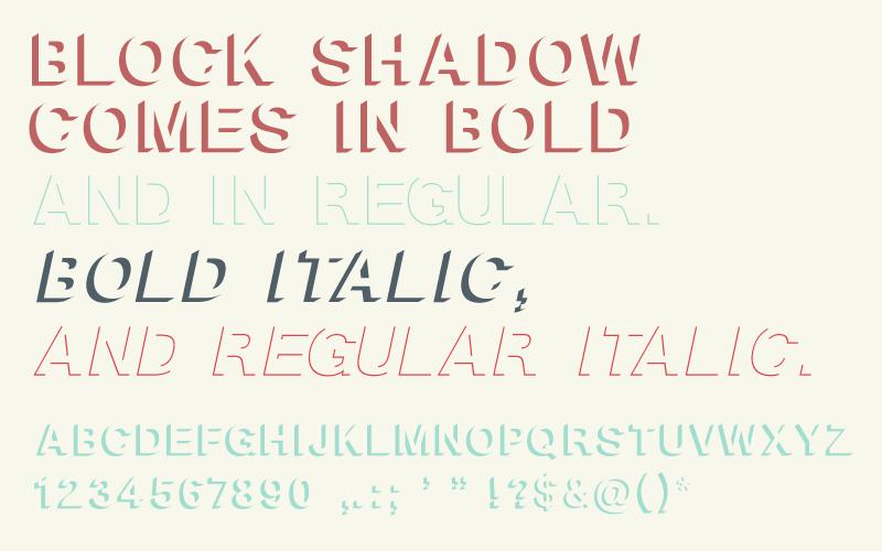Block Shadow Font