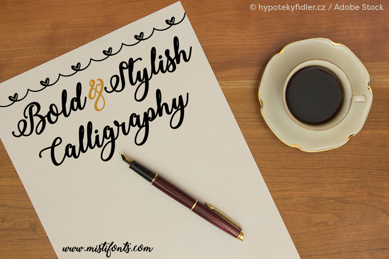 Bold stylish calligraphy font dafont
