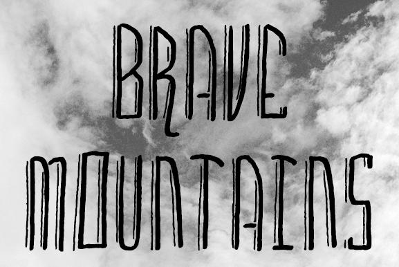 Brave Mountains Schriftart Dafontcom