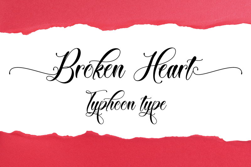 Illustration © Typhoon Type - Suthi Srisopha. Broken Heart