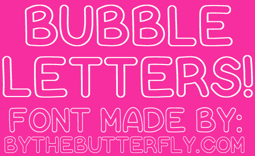 photograph relating to Bubble Letter Font Printable named Bubble Letters Font