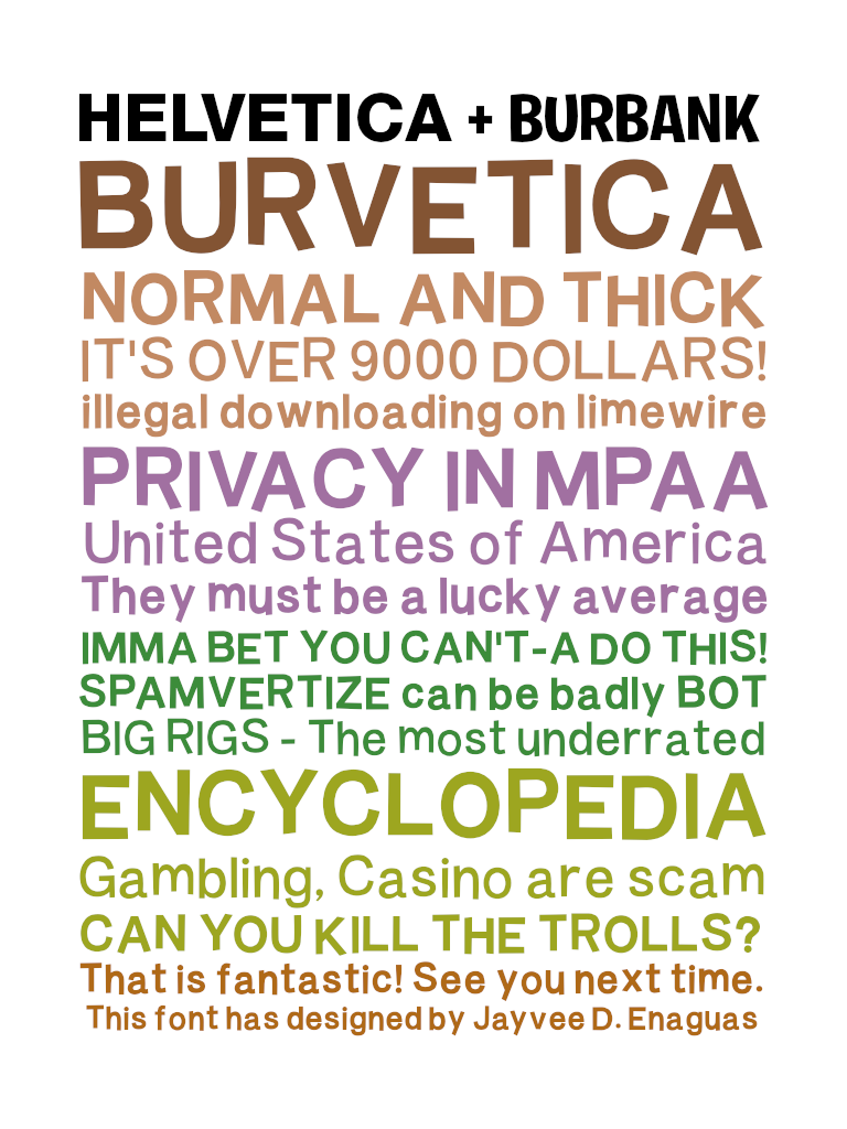 Burvetica NC Font | dafont com