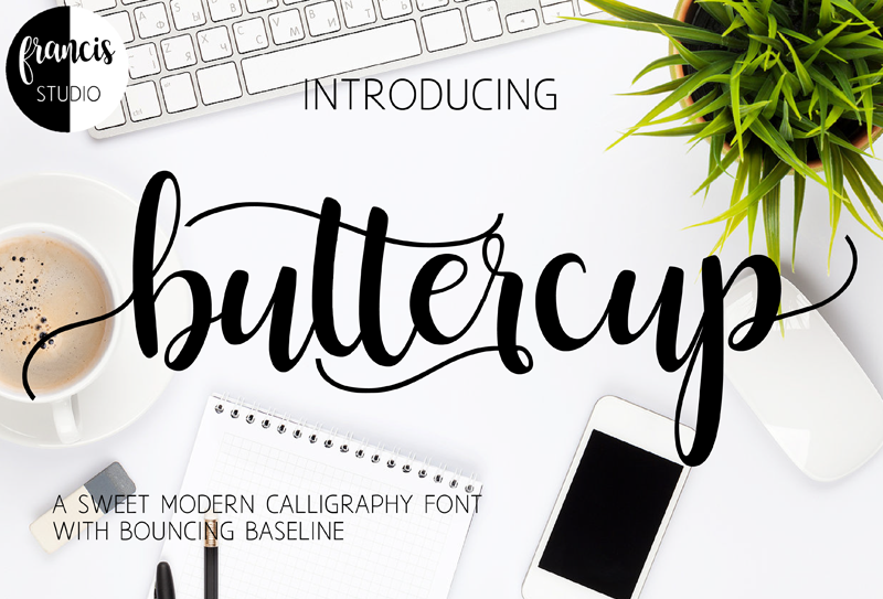 Buttercup Custom Preview Fonts