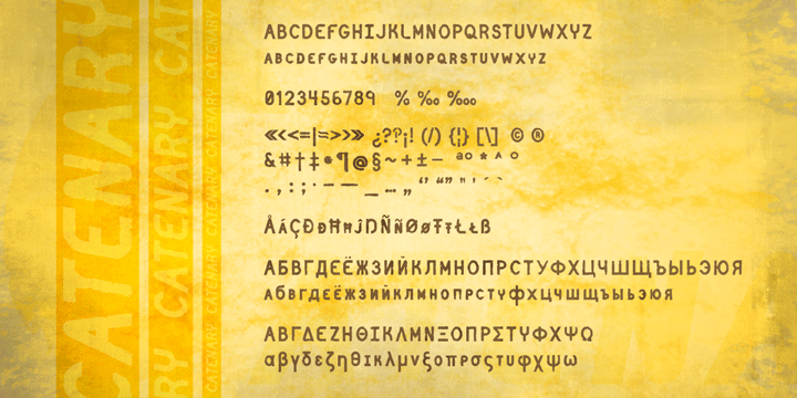 Catenary Stamp Font