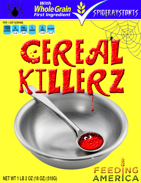 Cereal Killerz | dafont.com