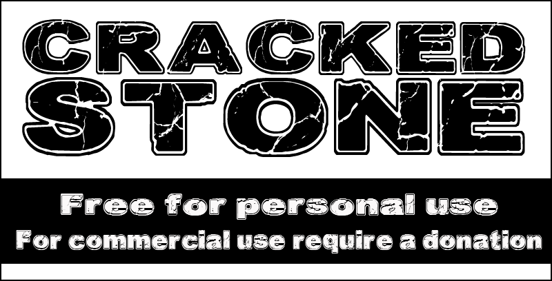 free cracked font