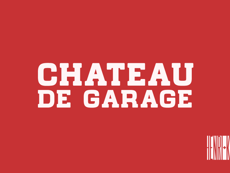 Chateau de Garage Font | dafont.com