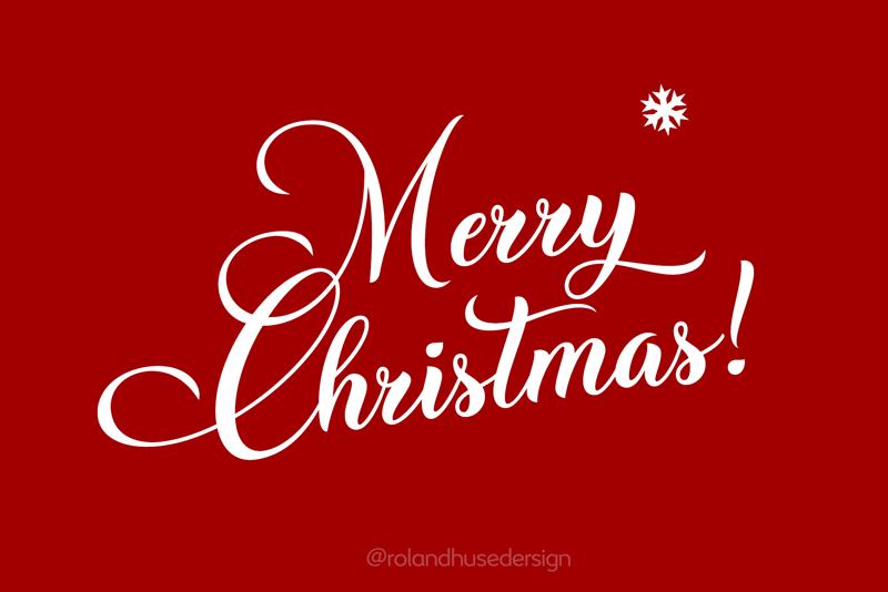 Christmas Wish Calligraphy Schriftart