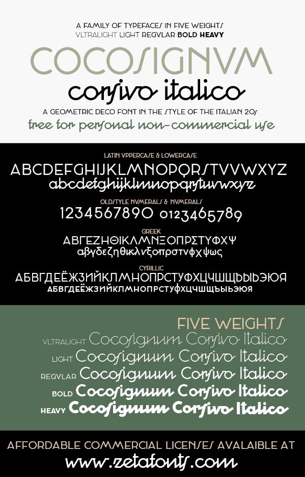Cocosignum Corsivo Italico Font | dafont com