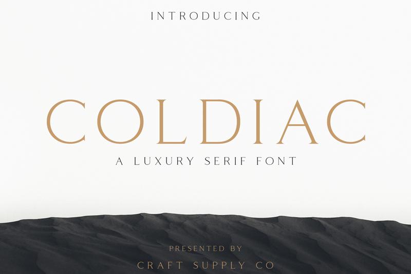 Coldiac logo fonts