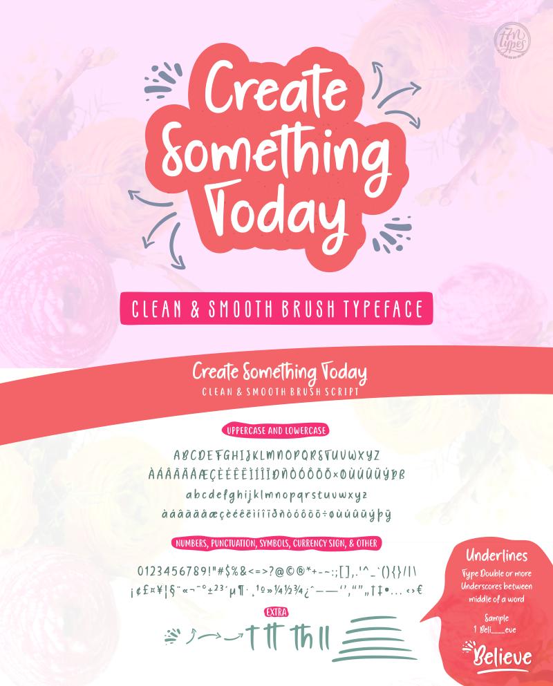 7e9960873aa73 Create Something Today Font | dafont.com
