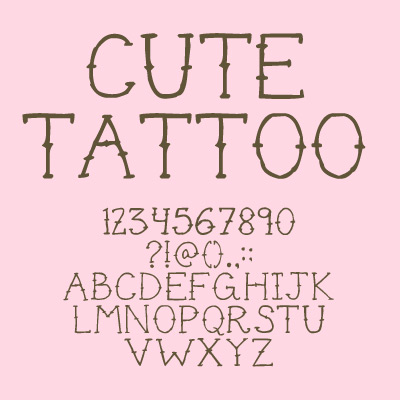 Cute tattoo font Cute font generator free