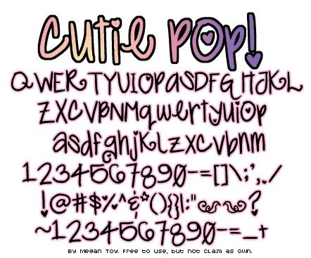 Cutie Pop Font
