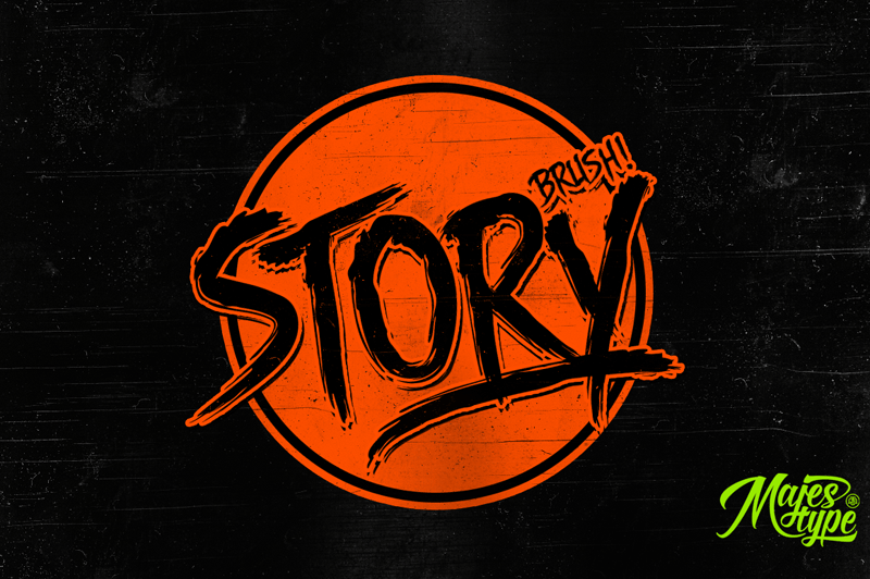 dhf story brush font