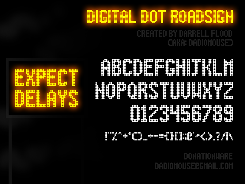 Illustration C Darrell Flood Digital Dot Roadsign