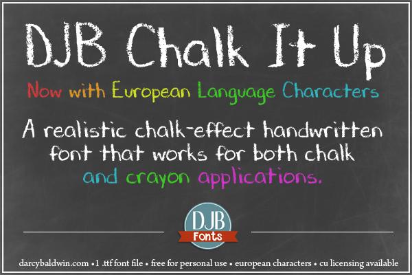 djb chalk it up font dafontcom