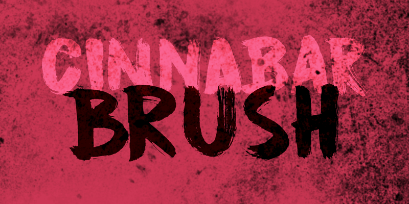 DK Cinnabar Brush Font | dafont.com