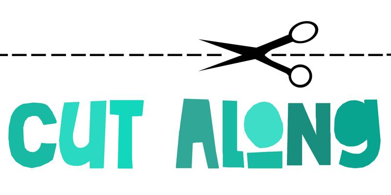 DK Cut Along Font