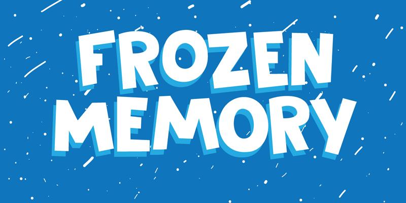 DK Frozen Memory Font