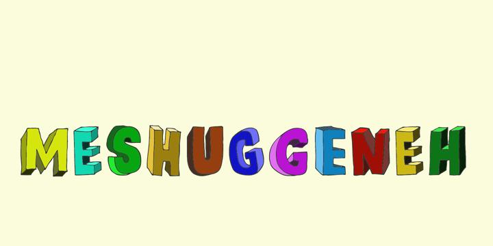 DK Meshuggeneh Font