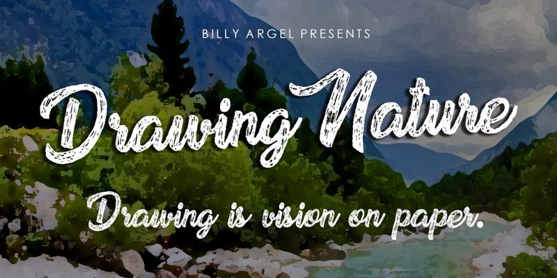 Drawing Nature Font Dafont Com
