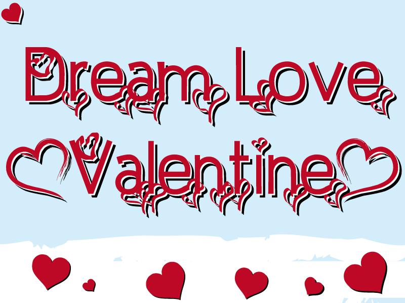 Dream Love Valentine. Custom Preview. Fonts