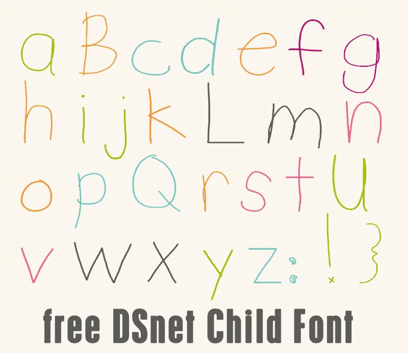 DSnet Child Font   dafont com