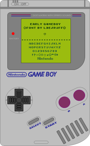 Early GameBoy Font | dafont com