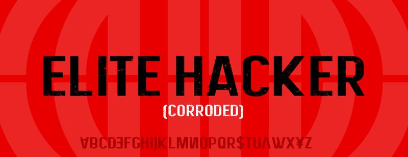 Elite Hacker Corroded Font | dafont.com