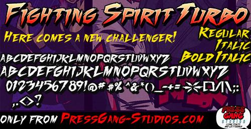 Fighting Spirit Font | dafont com