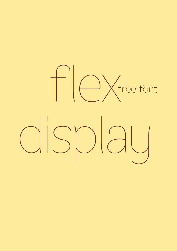 Flex Display Font   dafont com