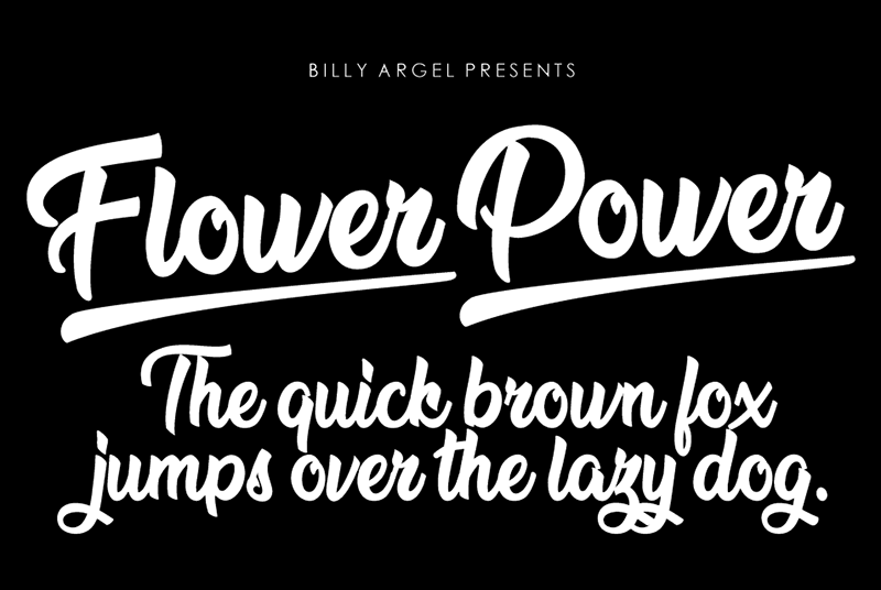 Brain Flower Font Dafont · Ilration Billy Argel Flower Power