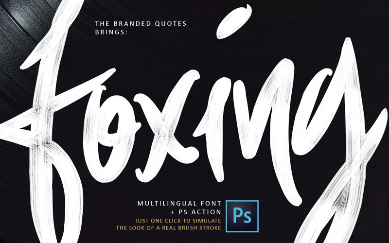 Foxing Font | dafont com