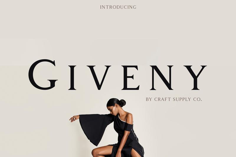 Giveny Logo font
