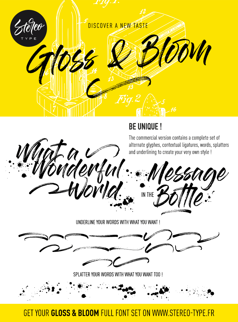 Gloss And Bloom Font | dafont com