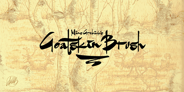 Goatskin Brush Font | dafont.com