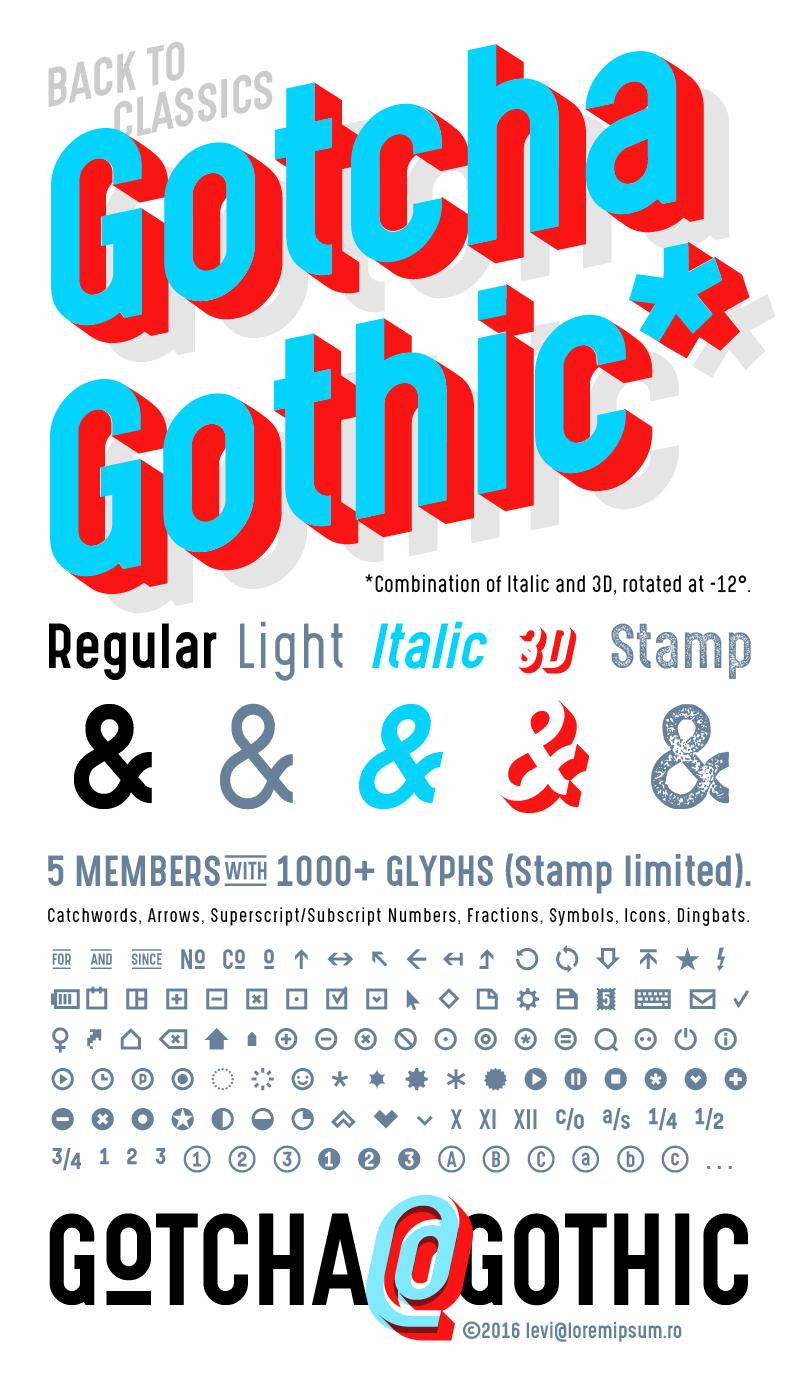 Gotcha Gothic Font | dafont com