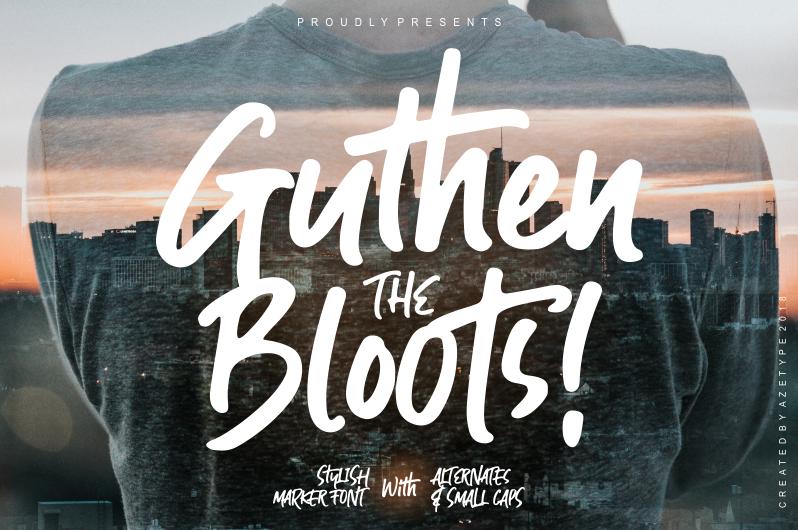 Guthen Bloots Font | dafont com