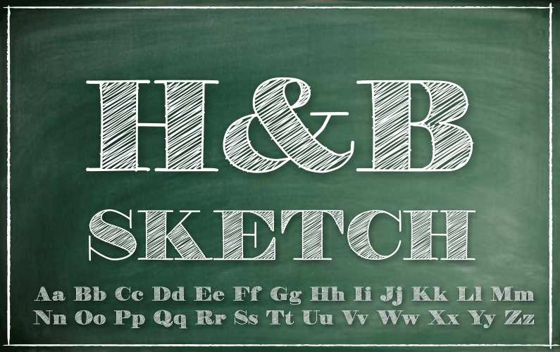 H&b Photo h&b sketch font | dafont