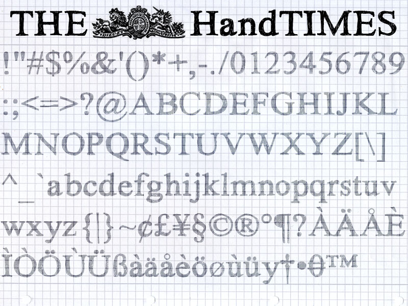Hand Times Font