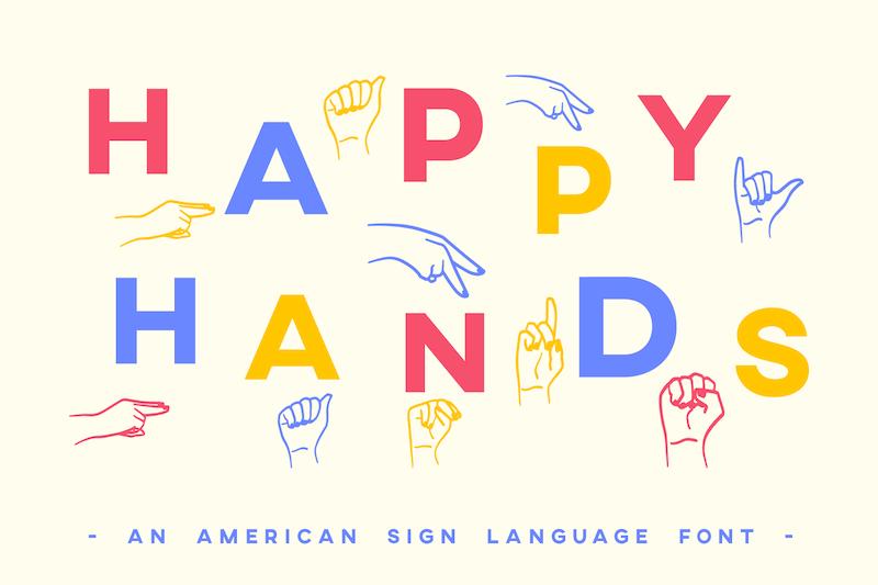 Happy Hands Font Dafont Com