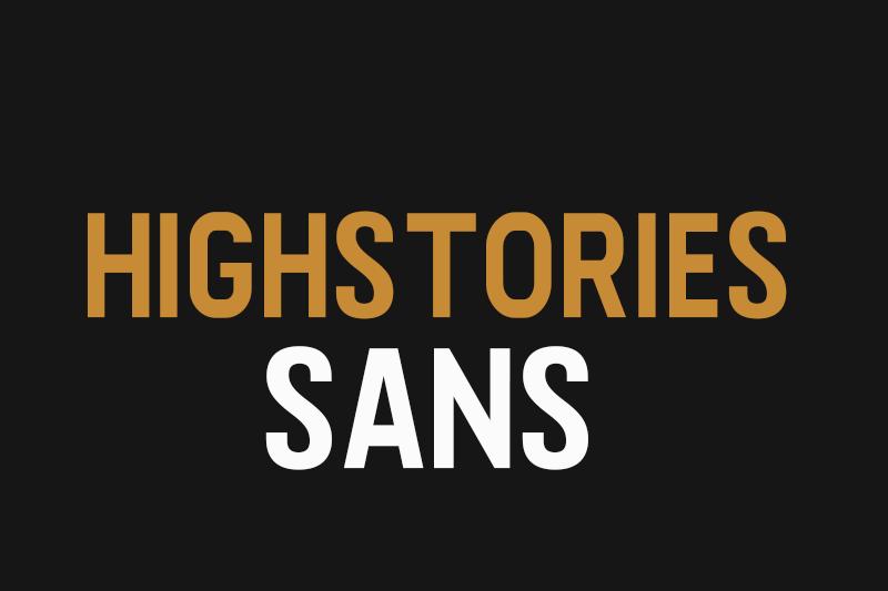 Highstories Sans Font | dafont com