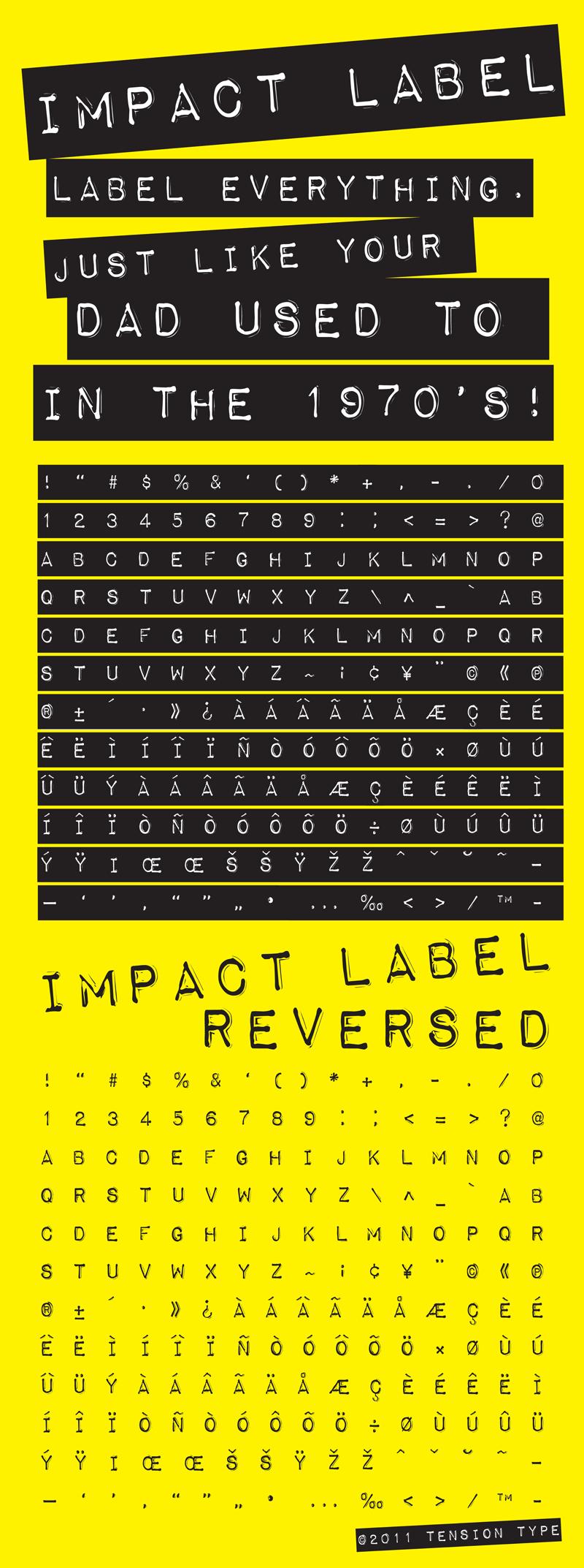 Impact Label Font | dafont.com