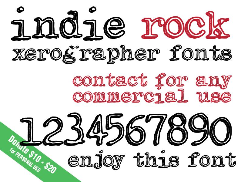 Indie rock font dafont
