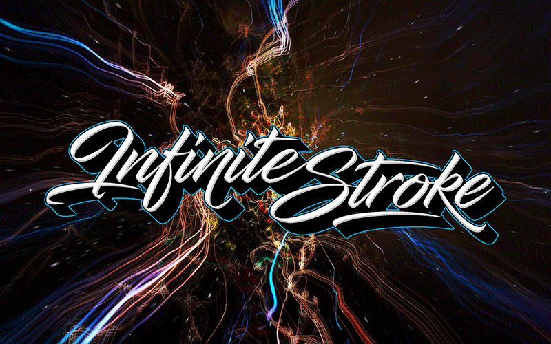 Infinite Stroke Font | dafont com