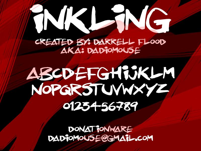 Inkling Font | dafont com
